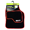 Type VR Embroidered Edging Car Mat Set - Red