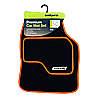 Type VR Embroidered Edging Car Mat Set - Orange