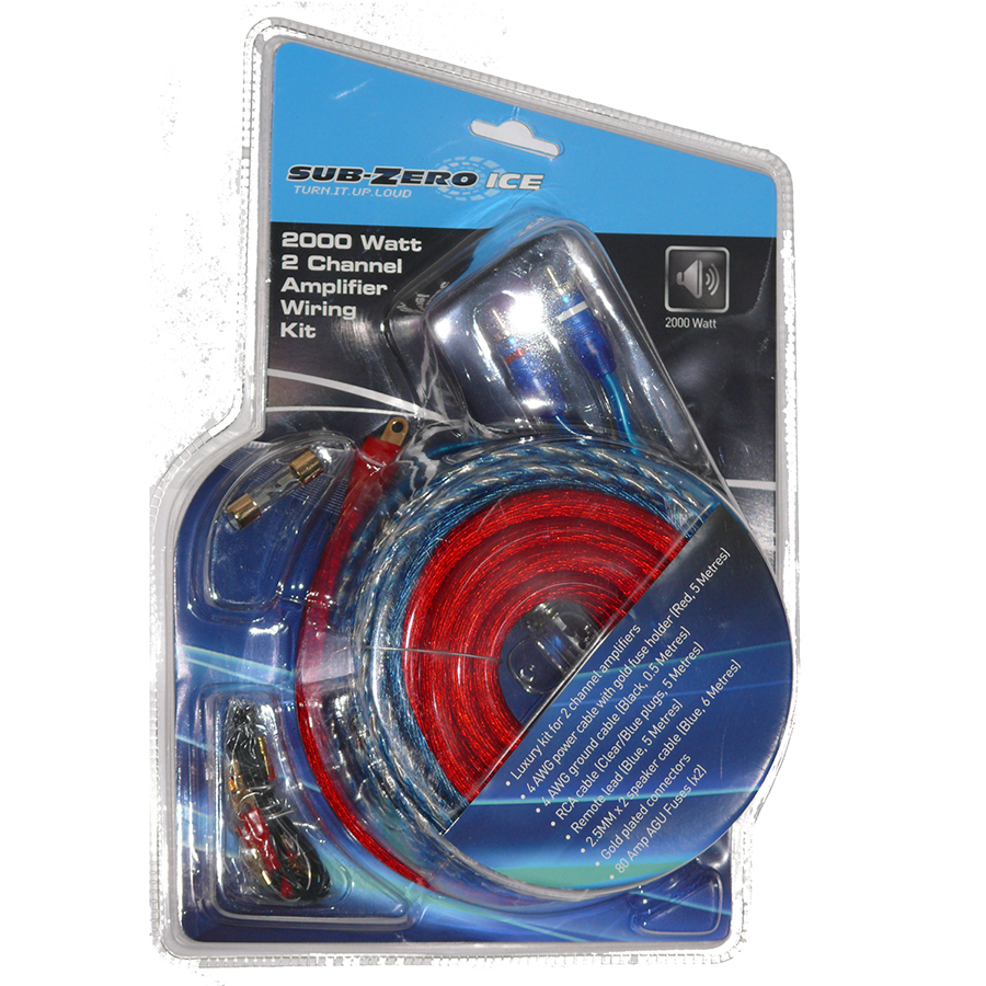 2000w Deluxe Amplifier Wiring Kit Sub And Amp Additional Image