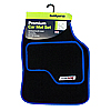 Type VR Embroidered Edging Car Mat Set - Blue